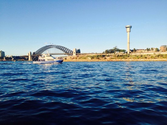 Sydney Harbour Bridge: The view of the bridge from the water.