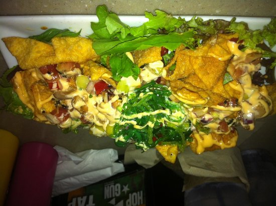 Jimbo's Sandbar: Ahi tuna wonton nachos