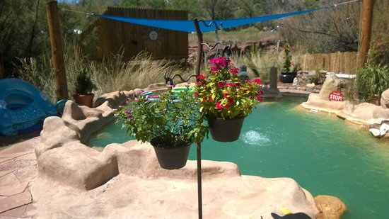 Jemez Hot Springs: Home of The Giggling Springs: Full view of the hot spring