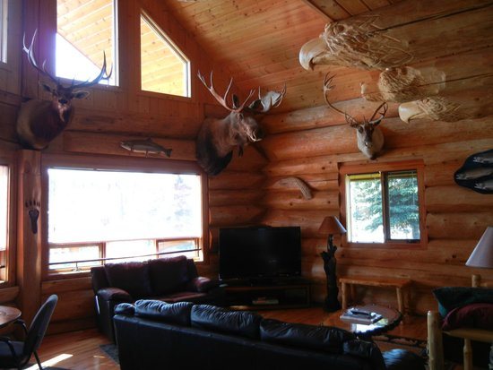 Eagle Head Cabins: incredible wood work and mounts