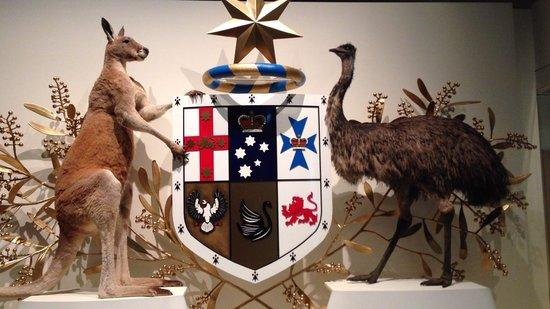 Melbourne Museum: オーストラリアのシンボルマークを実際の動物で展示してました
