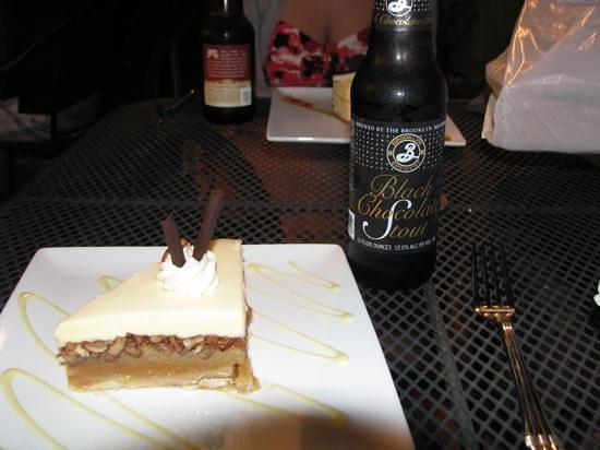 The Chocolate Turtle: vanilla pecan pie with a fabulous chocolate stout!
