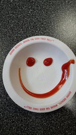 Ketchup happy face