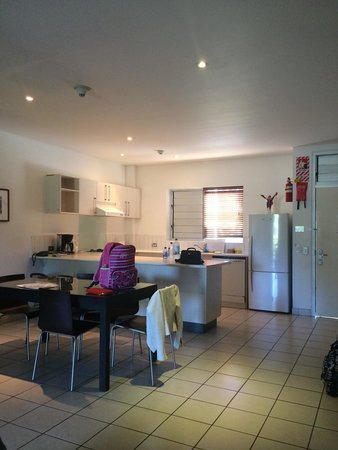 The Terraces Apartments: Our kitchen & dining in 2 bedroom ground floor