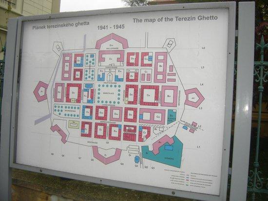 Terezin Memorial: Mapa de Terezin