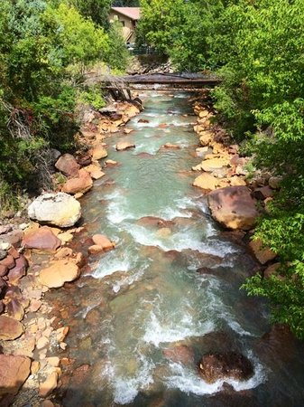 Ouray Victorian Inn: View of River