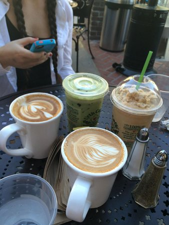 Urth Caffe: Our drinks