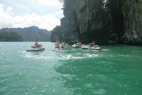 Mega Water Sports - Jet Ski Tours: On the water.