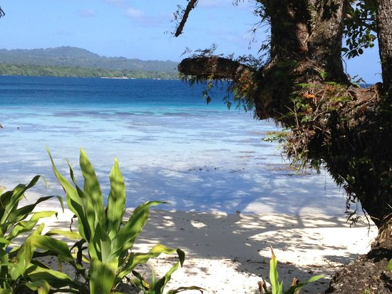 Ratua Island Resort & Spa: The view from our bathroom
