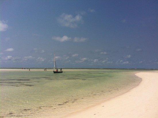 Jacaranda Beach Resort : Spiaggia davanti l hotel camminando un poxhino