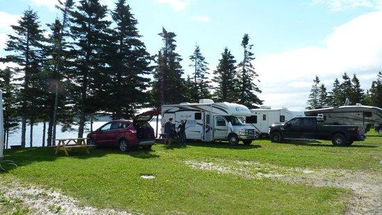 Camping Cote Surprise: notre emplacement