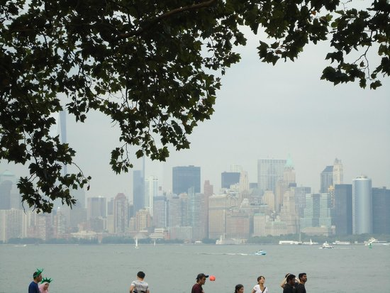 Manhattan Skyline : As seen from the Liberty Island.