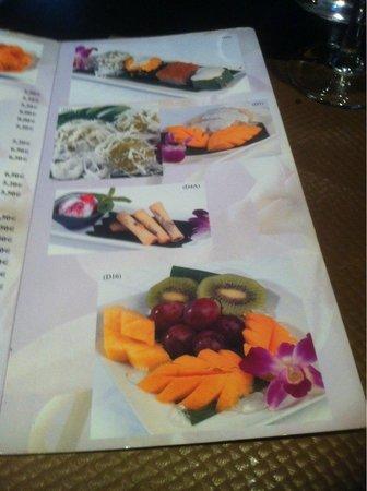 Paradis Thaï : et pour finir.......un dessert........encore dans l'originalité...