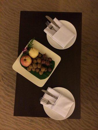 Suriwongse Hotel: Plateau de bienvenue