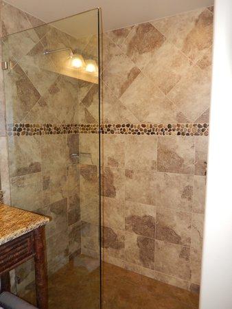 Bavarian Lodge: Shower in room 422