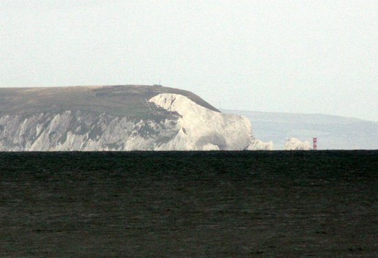 The Polar Bear on the Isle of Wight from Bournemouth Beach