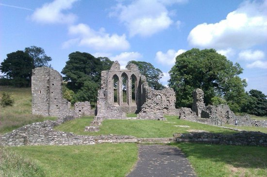 Inch Abbey: The main abbey ruins