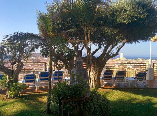Hotel La Cumbre: Jardin de la piscina
