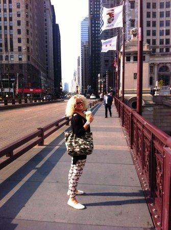 Michigan Avenue: On the bridge!