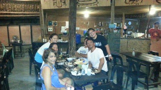 KT's Sinugba Sa Balay: our group having dinner