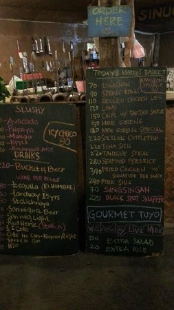 KT's Sinugba Sa Balay: the menu changes daily - depending on whats found fresh in the market