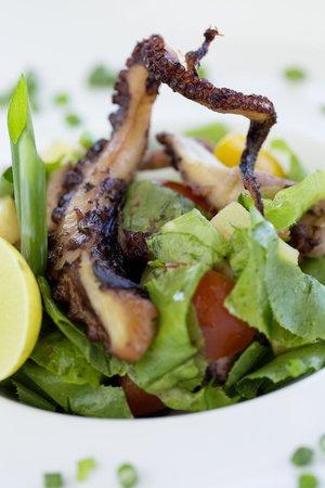 Zanzibar White Sand Luxury Villas & Spa (Relais & Chateaux): Grilled Octopus served at the Restaurant