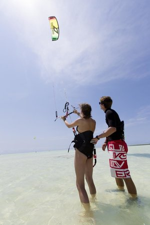 Zanzibar White Sand Luxury Villas & Spa (Relais & Chateaux): One of the Top 3 spots for learning kiteesurfing!