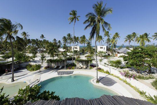 Zanzibar White Sand Luxury Villas & Spa (Relais & Chateaux): View from the Restaurant's Rooftop Terrace