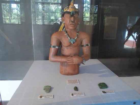 Within the museum to view, which is at no additional cost for entry in El Tazumal.