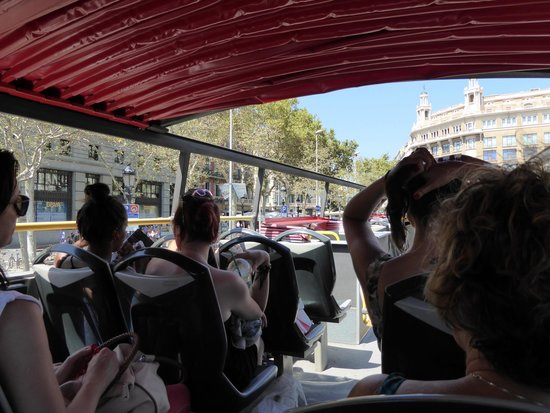 Barcelona City Tour: Canopy at the back, get this if you can as it was hot