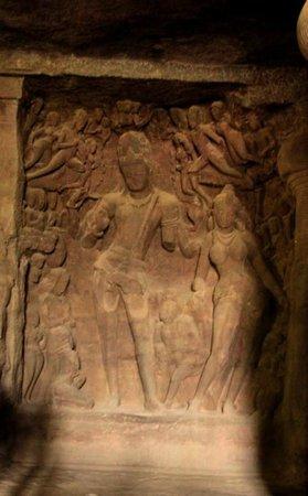 Elephanta Caves: Vishnu