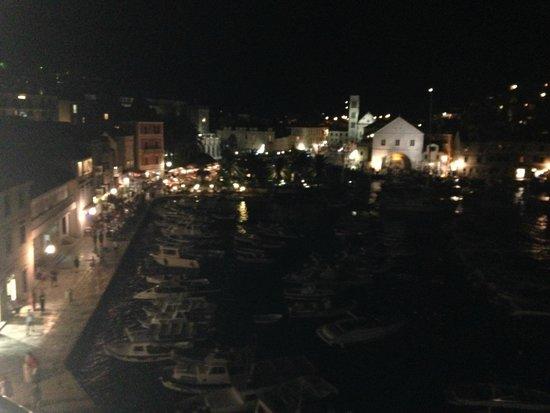 Villa Milton Hvar: View over Hvar Town  Harbour from a Hotel Bar