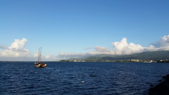 Apia Yacht club: The view from the deck