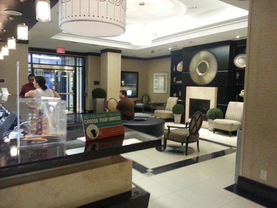 Lobby Area at the Hilton Garden Inn Toronto Downtown