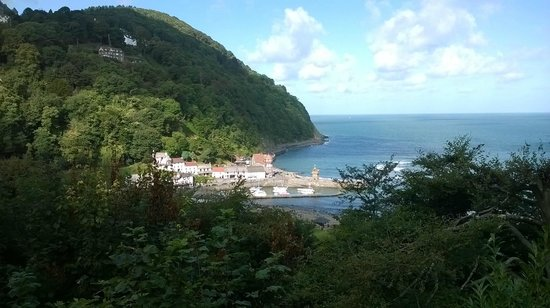 View from Tors Hotel to Lynmouth Harbour