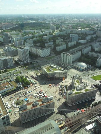 Alexanderplatz Vu De La Tour Tv Fotografia De Berlin Tv Tower