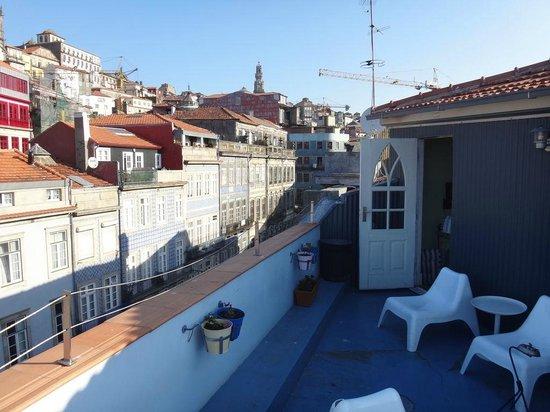 Dixo's Oporto Hostel: テラスからの眺めは最高