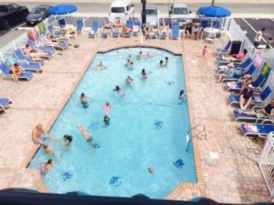 Starlight Motel & Luxury Suites : Great times in our heated pool