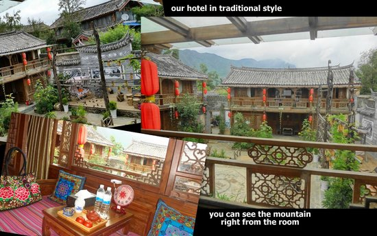 Baisha Holiday Resort Lijiang: love the view from our room: mountains!
