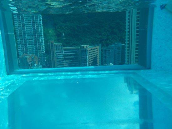 Hotel Indigo Hong Kong Island : piscine vue de l'intérieur