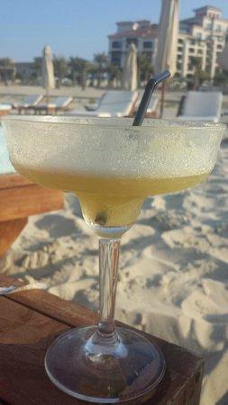 The St. Regis Saadiyat Island Resort: view from the beach +  a cocktail :)