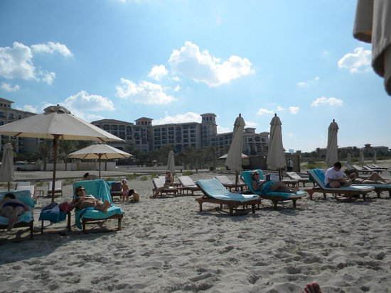 The St. Regis Saadiyat Island Resort: view from the beach