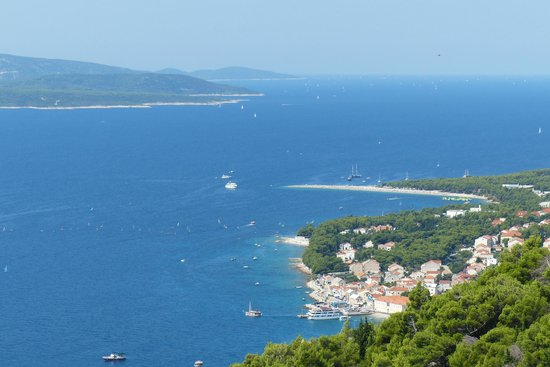 Plage de Zlatni Rat : Overview from Zlatni Rat
