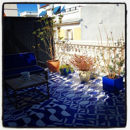 Only YOU Boutique Hotel Madrid: The terrace of the beauty room.