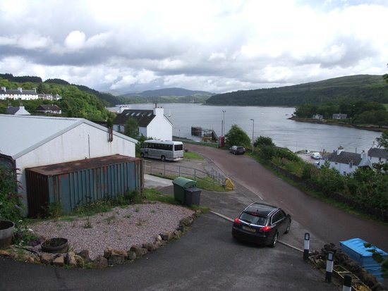 Lochaline, UK: View from the cabins over Loch Aline