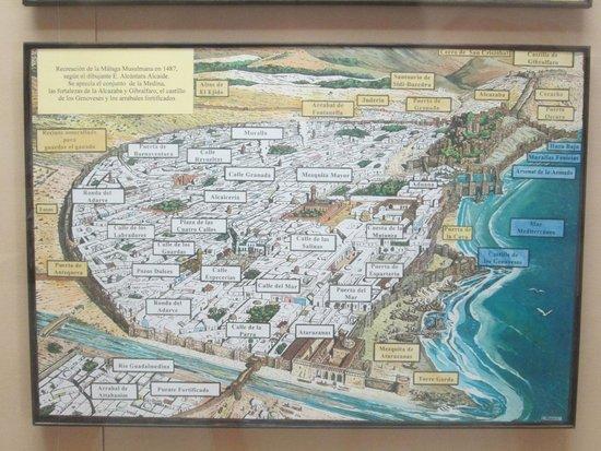 Castillo de Gibralfaro : Plano de la ciudad musulmana