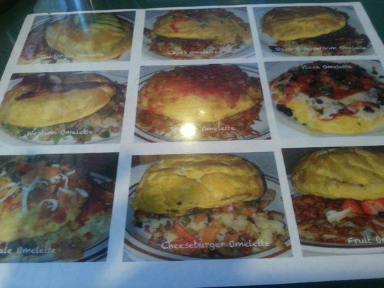 Harold's House Of Omelettes: Huge selection of omelettes!