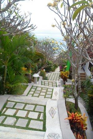 Lembongan Island Beach Villas: The stairway to the villas