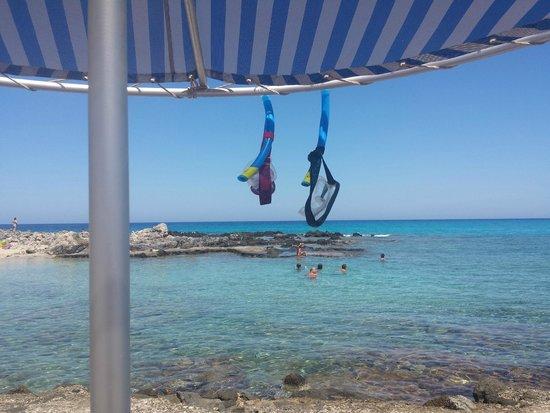 Blue Beach Villas & Apartments: Spiaggia privata