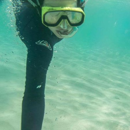Ocean Spirit Cruises: Abbey snorkelling on the Ocean Spirit trip to Michaelmas Cay.